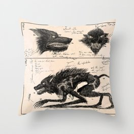 Flegellum de Bestia: Scourge Beast Throw Pillow