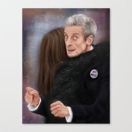 12th Doctor - Not a hugging person Canvas Print