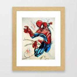 Web-Slinger Spider-Man Framed Art Print