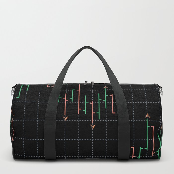 Bars and fractal Duffle Bag