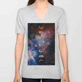 Cosmic Celestial Cycle Unisex V-Neck