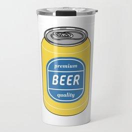 Pop Art Beer Yellow and Blue Travel Mug