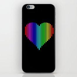 Techno Love Heart iPhone Skin
