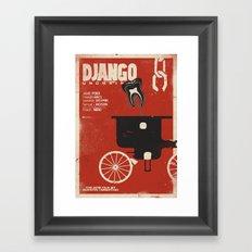 Django Unchained - Quentin Tarantino Alternative movie poster (Di Caprio, Walt, Foxx) Framed Art Print