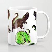 dinosaurs Mugs featuring dinosaurs by Lara Paulussen