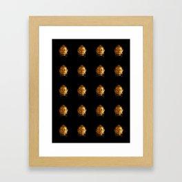 Budhha Golden Head by Lika Ramati Framed Art Print