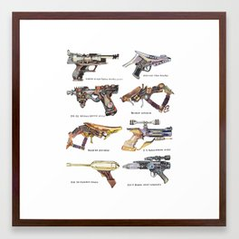 Star Wars Gun Collection Framed Art Print