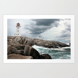 Peggy's Cove Light House -- Nova Scotia Art Print