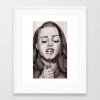 ultraviolence Framed Art Prints featuring Ultraviolence by MarryTheSequins