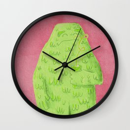Green Monster Smoothie Time Wall Clock