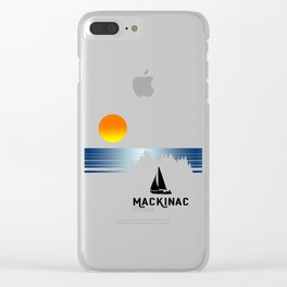 Vintage Mackinac Clear iPhone Case