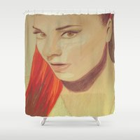 spice Shower Curtains featuring Sporty Spice by The Expression Studio