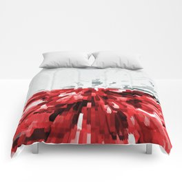 Extruded flag of Poland Comforters