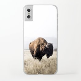 Bison stance Clear iPhone Case