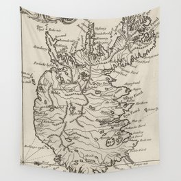 Vintage Map of Iceland (1764) Wall Tapestry