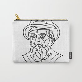 Ferdinand Magellan Mosaic Black and White Carry-All Pouch