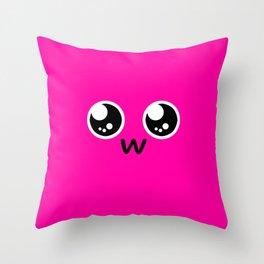 Squish Monster UwU Throw Pillow