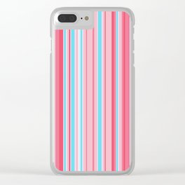 Stripe obsession color mode #5 Clear iPhone Case