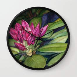 Rhododendron Bud Wall Clock