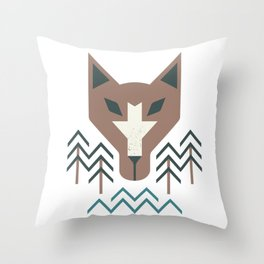 The Wolf For The Trees Throw Pillow