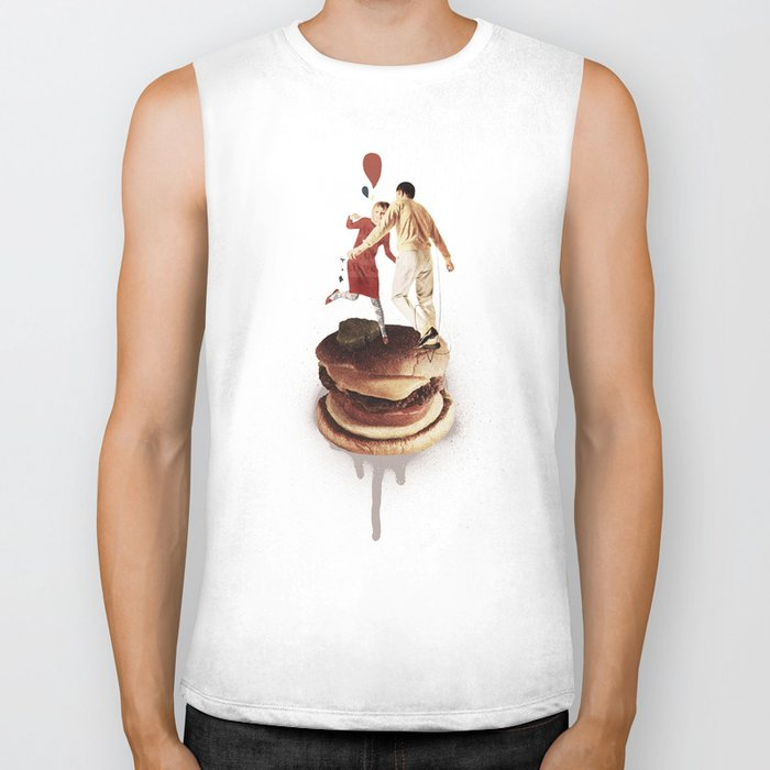 These Burgers Are Crazy II  | Collage Biker Tank