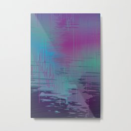 Purple Rainstorm Metal Print