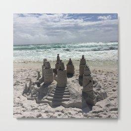 Castles In The Sand Metal Print