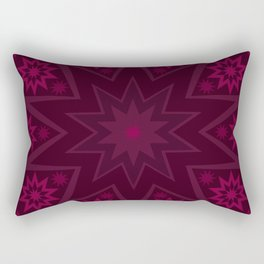 Mulberry Wine Star Flower Rectangular Pillow