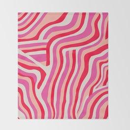 pink zebra stripes Throw Blanket
