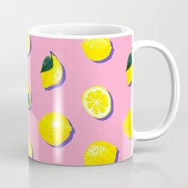 Pink Lemon ~ 80's Pattern Coffee Mug