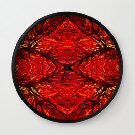 Molten Firegrass IV by Chris Sparks Wall Clock