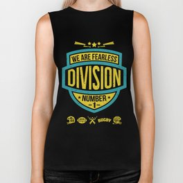 The emblem of rugby team in retro style Biker Tank