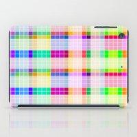bathroom iPad Cases featuring Bathroom Tile Rainbow by Jessica Slater Design & Illustration