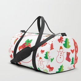 Happy New Year and Christmas Symbols Decoration Duffle Bag