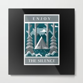 Enjoy The Silence - Camping Metal Print
