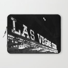 Vintage Las Vegas Sign - Black and White Photography Laptop Sleeve