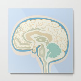Map of Brain Metal Print