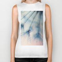 dandelion Biker Tanks featuring dandelion by Ingrid Beddoes