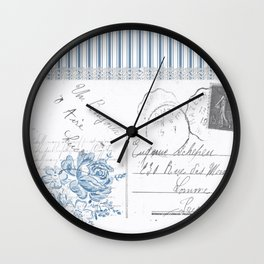 Lucienne in Blue Wall Clock