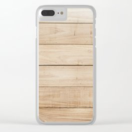 Wood plank texture 2 Clear iPhone Case