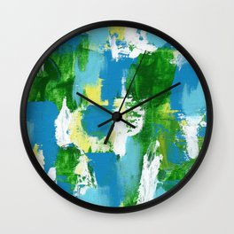 Abstract Expression #5 by Michael Moffa Wall Clock