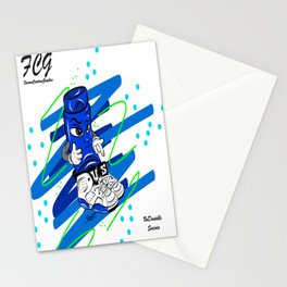 Mr.ShoeLock (blue) Stationery Cards