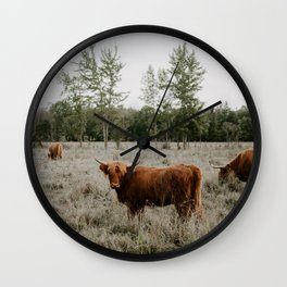 The Furry Cow Wall Clock