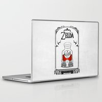 the legend of zelda Laptop & iPad Skins featuring Zelda legend - Red potion  by Art & Be