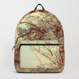 Hello Spring! (White Cherry Blossom by the Lake) Backpack