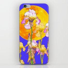 IRIS GARDEN & RISING GOLD MOON  DESIGN ART iPhone Skin