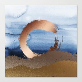 Inspiration: Gold, Copper And Blue Canvas Print