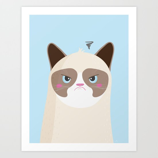 Grumpy Cat Art Print
