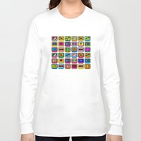 8 bit Long Sleeve T-shirts featuring 8-bit Game Cartridges by Raven Jumpo