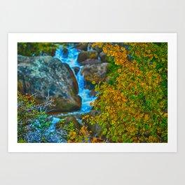 Surreal River Art Print